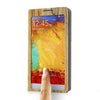 Bracevor Touch Full Screen View Wood pattern Leather Stand Case for Samsung Galaxy Note 3 - Yellow1