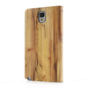 Bracevor Touch Full Screen View Wood pattern Leather Stand Case for Samsung Galaxy Note 3 - Yellow