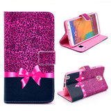 Rose Bowknot Wallet Leather Flip Case for Samsung Galaxy Note 3