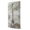 Bracevor Eiffel Tower Design Wallet Leather Flip Case for Samsung Galaxy Note 3