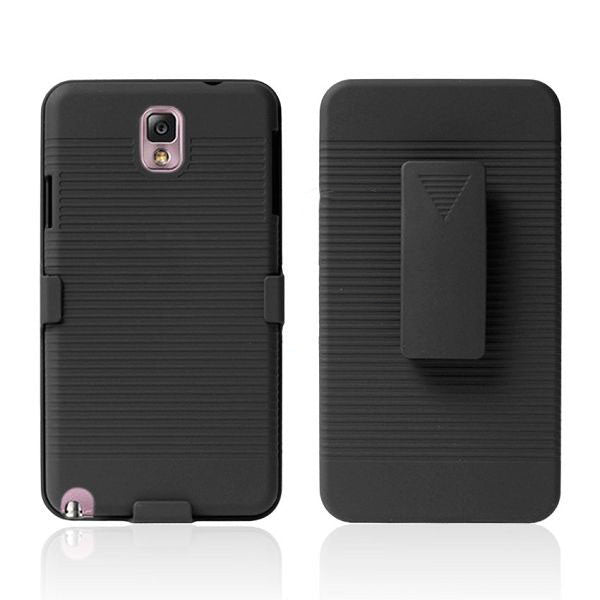 Bracevor Holster Combo with Kick Stand Hard Case for Samsung Galaxy Note 3 - Black