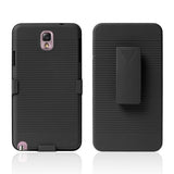 Holster Combo with Kick Stand Hard Case for Samsung Galaxy Note 3 - Black