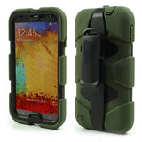4 in 1 Heavy Duty Armor Case with Belt clip holster for Samsung Galaxy Note 3 - Green