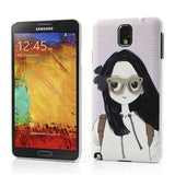 Pretty Girl with 3D glasses Designer Back Case for Samsung Galaxy Note 3 N9000 N9005