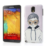 Charming Boy with 3D glasses Hard Back Case for Samsung Galaxy Note 3 N9000 N9005