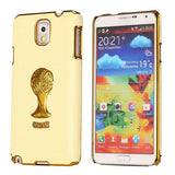 Brazil Soccer World Cup Commemorative Edition PC Hard case for Samsung Galaxy Note 3 (Light Yellow)