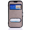 PU Leather Window Case for Samsung Galaxy Note 2 N7100 - Grey