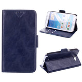 Executive Leather Wallet Case for Samsung Galaxy Note 2 - Navy Blue