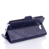 Bracevor Executive Leather Wallet Case for Samsung Galaxy Note 2 - Navy Blue