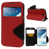 Roar Window View Samsung Galaxy Note 2 N7100 Wallet Leather Case - Red