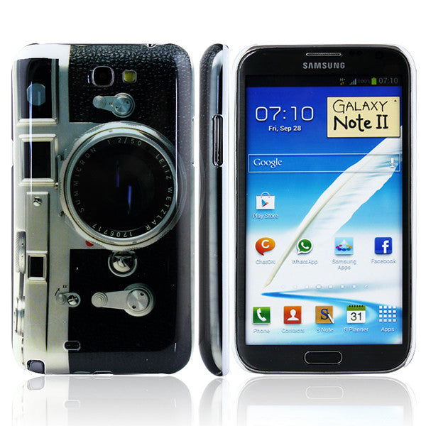 Bracevor Classic Camera Design Hard Back Case for Samsung Galaxy Note 2 N7100