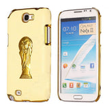 Brazil Soccer World Cup Edition PC Hard case for Samsung Galaxy Note 2 N7100 (Light Yellow)