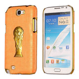 Brazil Soccer World Cup Commemorative Edition PC Hard case for Samsung Galaxy Note 2 N7100 (Orange)