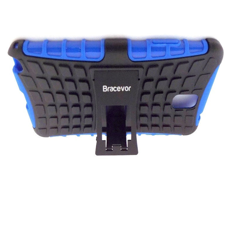 Bracevor Rugged Armor Hybrid Kickstand Case Cover for Samsung Galaxy Note 3 - Blue