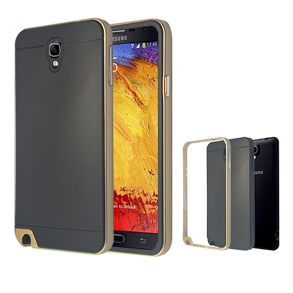 meet 195d8 1256b Neo Hybrid Bumper Back Case for Samsung Galaxy Note 3 Neo - Gold ...