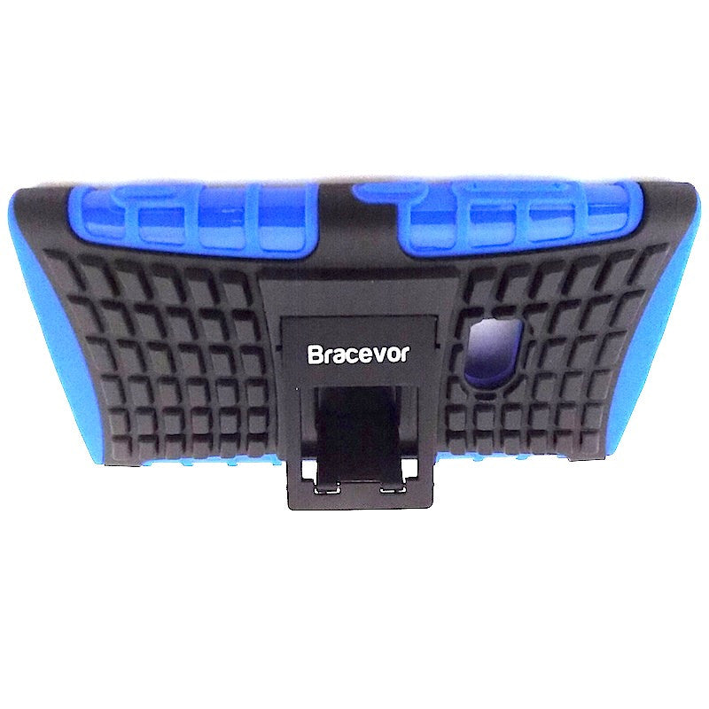Bracevor Rugged Armor Hybrid Kickstand Case Cover for Nokia Lumia 920 - Blue