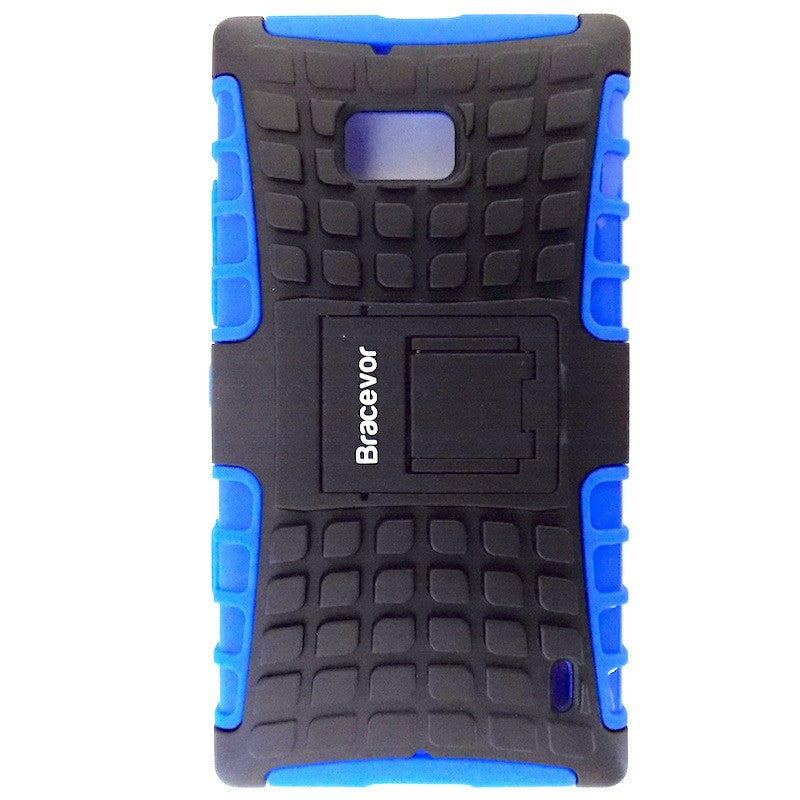 Bracevor Rugged Armor Hybrid Kickstand Case Cover for Nokia Lumia 929 930 - Blue