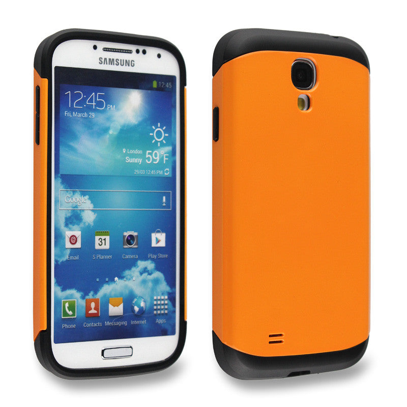Bracevor Flaming Orange Tough Armor Back Case for Samsung Galaxy S4 i9500