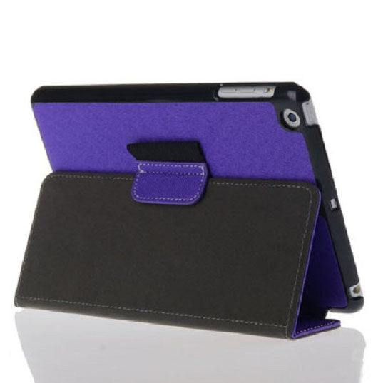 Bracevor Smart Leather Case with stylus holder for iPad mini 2 with Retina Display (Purple)