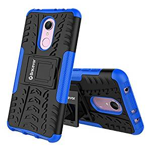 Shockproof Xiaomi Redmi 5 Hybrid Kickstand Back Case Defender Cover - Blue