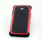 Triple Layer Defender Back Case for Samsung Galaxy S3 i9300 - Red