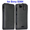 Bracevor Magnetic Leather Vertical  Flip Case for Sony Xperia L - Black
