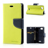 Bracevor Mercury Goospery Leather Case for Sony Xperia L - Dark Green/Blue 1