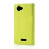 Bracevor Mercury Goospery Leather Case for Sony Xperia L - Dark Green/Blue 2