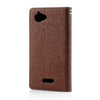 Mercury Goospery Fancy Diary Leather Case Cover for Sony Xperia L - Brown