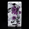 Bracevor Floral design hard back case cover for Sony Xperia C S39h