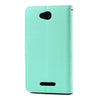 Mercury Goospery Fancy Diary Leather Case Cover for Sony Xperia C - Dark Blue/Cyan