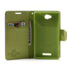 Bracevor Mercury Goospery Fancy Diary Leather Case Cover for Sony Xperia C C2305 S39h - Green/Dark Blue