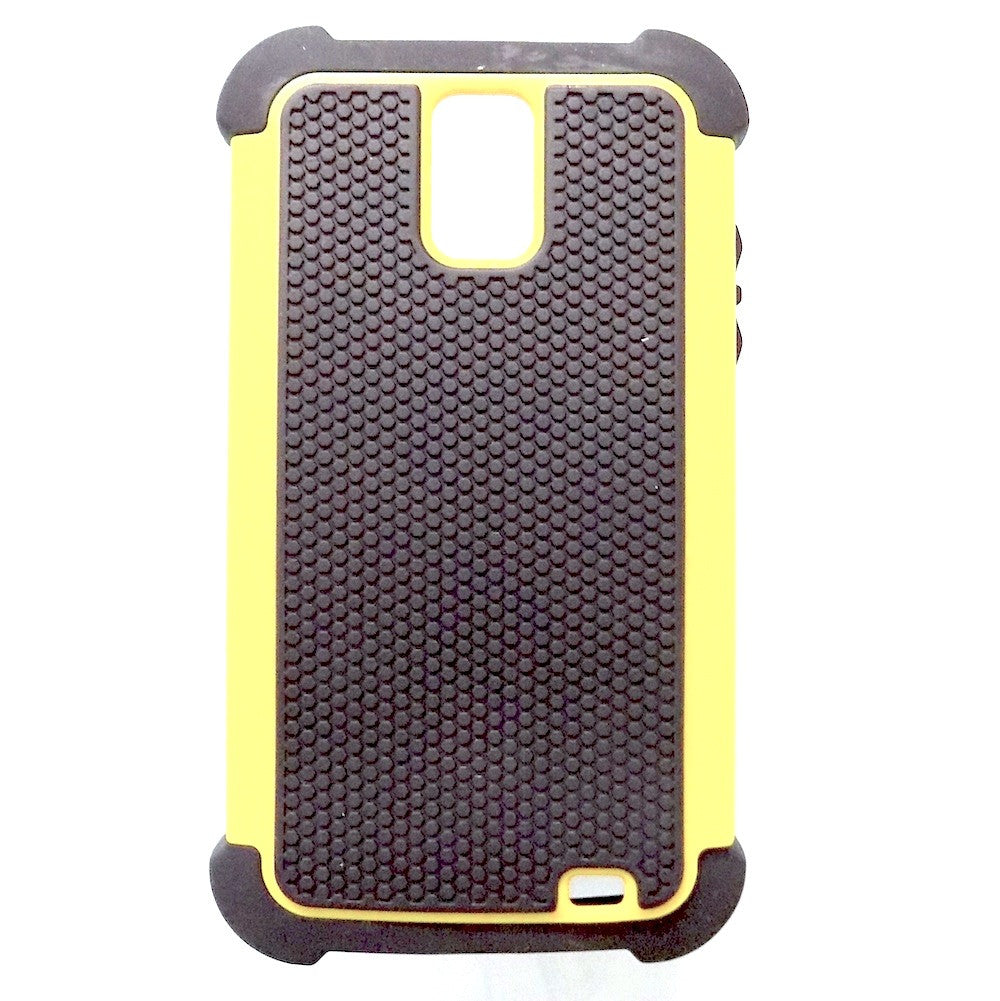 Bracevor Triple Defender Back Case Cover for Samsung Galaxy S II Duos I929 - Yellow
