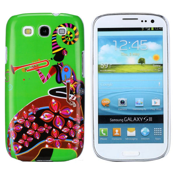 Ethnic Girl Art Design Hard Back Case Cover for Samsung Galaxy S3 i9300