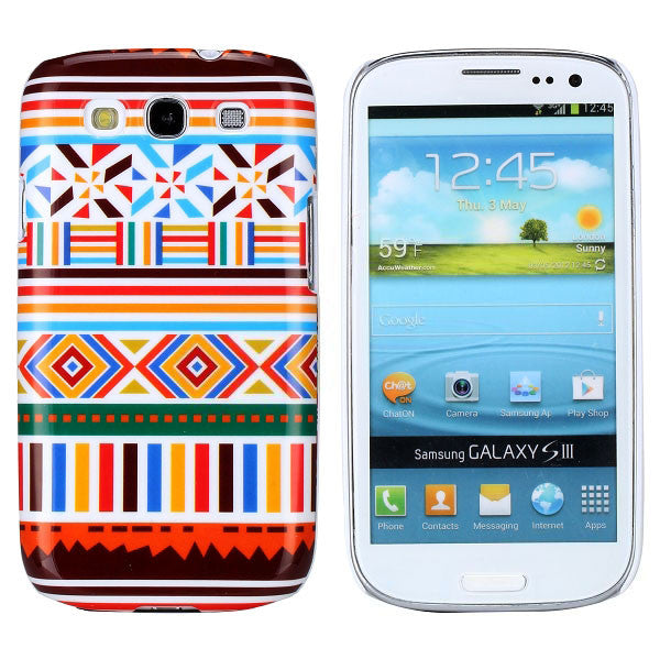 Bracevor Aztec Art Design (Symbols) Hard Back Case Cover for Samsung Galaxy S3 i9300