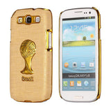 Brazil Soccer World Cup Commemorative Edition PC Hard case for Samsung Galaxy S3 I9300 (Light Yellow)