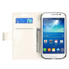 Bracevor Stylish Leather Wallet Case Cover for Samsung Galaxy Grand Neo i9060 and Grand Duos i9082 - White
