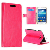 Stylish Leather Wallet Case for Samsung Galaxy Grand Duos - Pink
