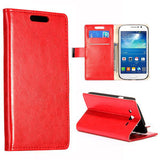 Stylish Leather Wallet Case for Samsung Galaxy Grand Duos - Red