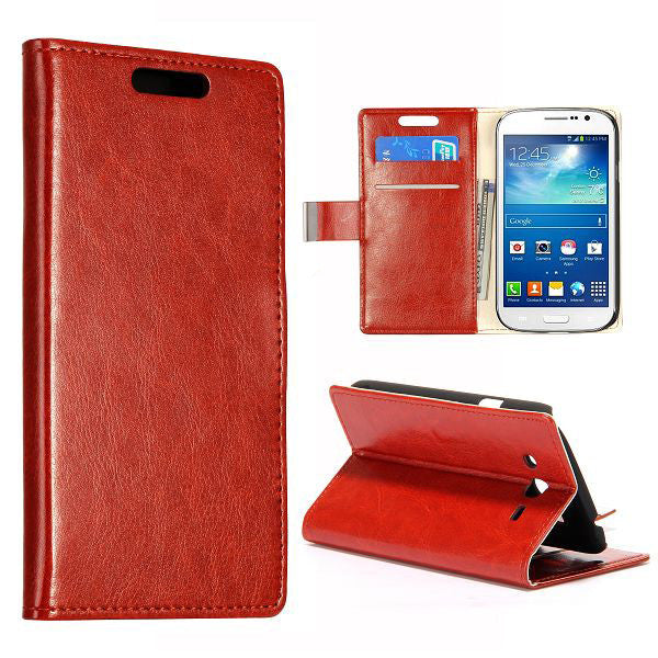 Bracevor Stylish Leather Wallet Case Cover for Samsung Galaxy Grand Neo i9060