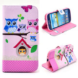 Trendy Owls Design Wallet Leather Flip Case for Samsung Galaxy S3 I9300