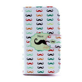 Trendy Moustache Design Wallet Leather Flip Case for Samsung Galaxy S3 I9300