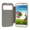 Bracevor 3D Heart Design PC Bumper Leather Flip Case Cover for Samsung Galaxy S4 I9500 3