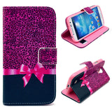 Rose Bowknot Wallet Leather Flip Case for Samsung Galaxy S4 i9500