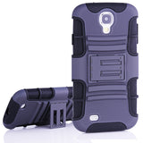 Bracevor 2 in 1 Hybrid Kick Stand Case for Samsung Galaxy S4 i9500 - Grey