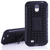 Bracevor 2 in 1 Hybrid Robot Kick Stand Case for Samsung Galaxy S4 i9500 - Black