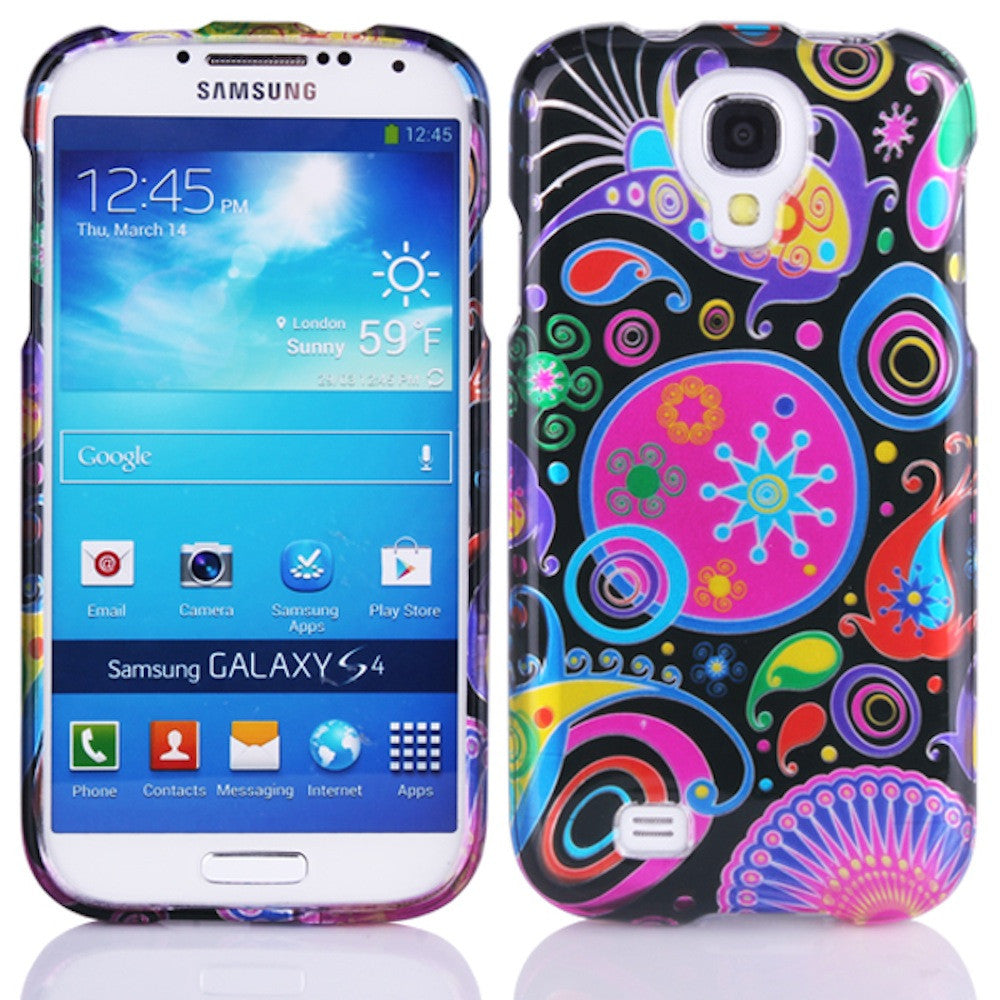 Bracevor Ethnic Flowers Design Hard Back Case Cover for Samsung Galaxy S4 I9500 1