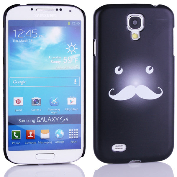 Bracevor Funny Moustache Design Back Case for Samsung Galaxy S4 i9500 - Black