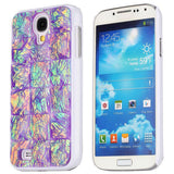 Sparkling Diamond split stone Hard Back Case for Samsung Galaxy S4 i9500 i9505 i9508 (Purple)