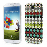 Aztec Art Design (Tribal Rhombus) Hard Back Case Cover for Samsung Galaxy S4 I9500